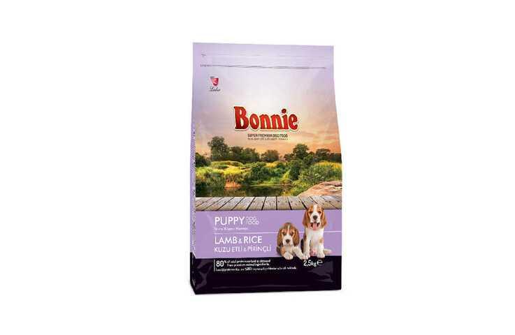 Bonnie kuzulu ve pirinçli yavru köpek maması